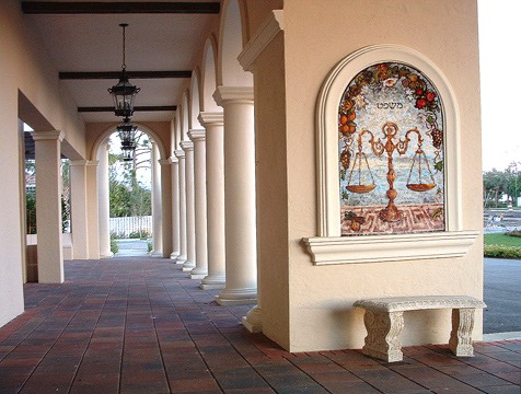Justice Temple Judea At Palm Beach Gardens Fl George Fishman Mosaics George Fishman